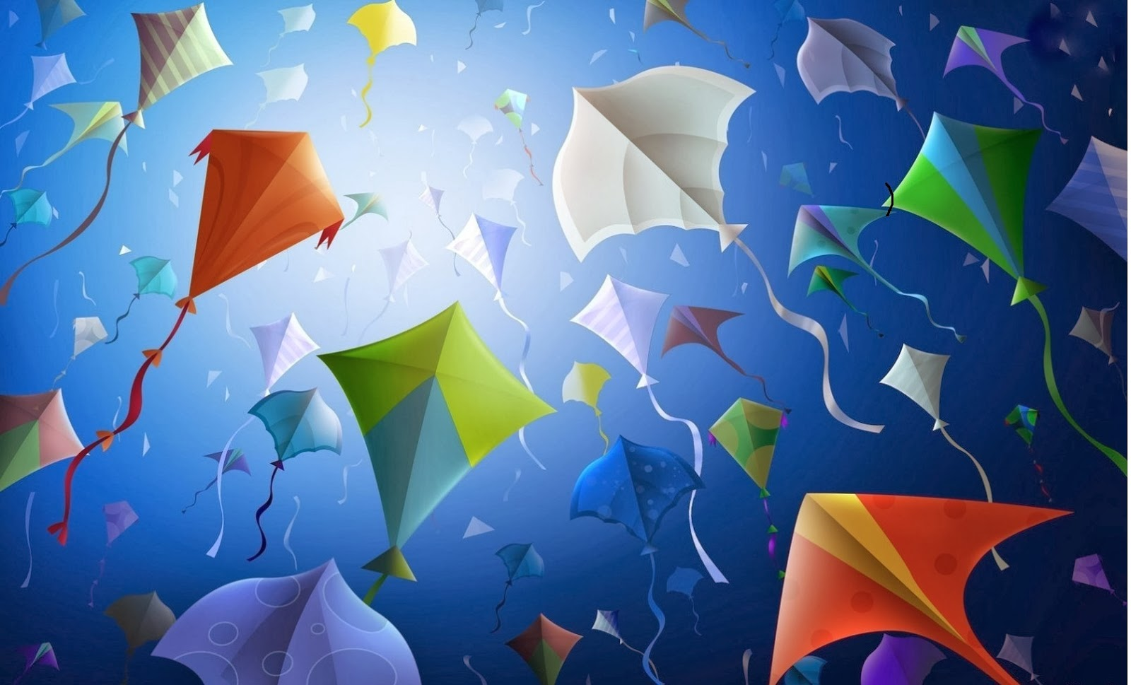 Happy Makar Sankranti 2014.HD Wallpapers and Pics.kites