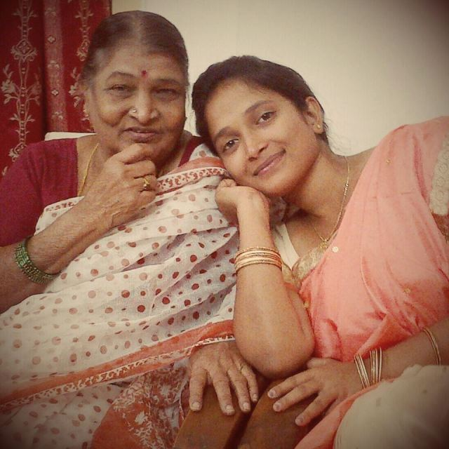 My daughter with Attamma