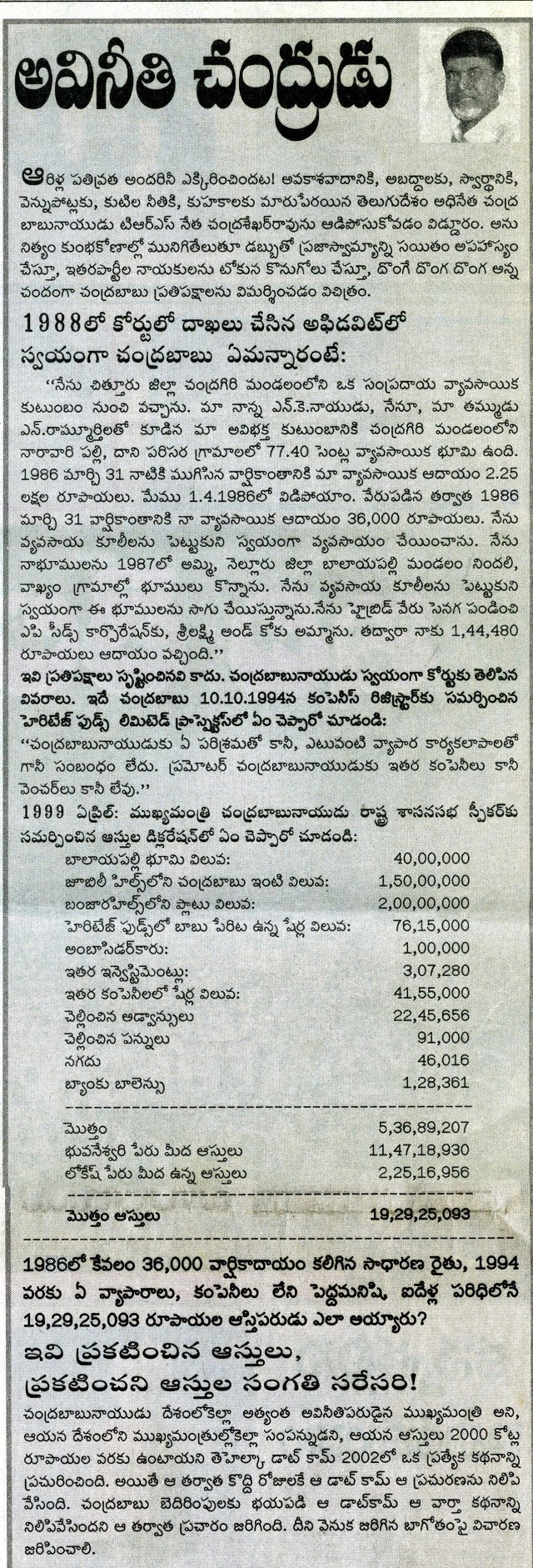 Chandrababu article