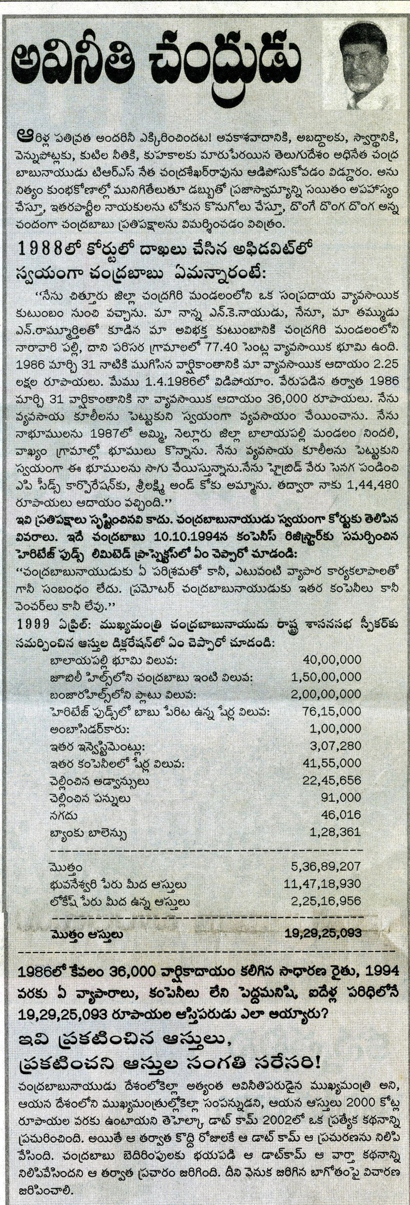 Chandrababu article